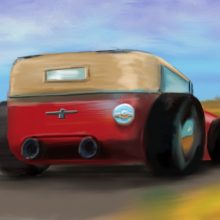 Hot Rod iPhone Painting