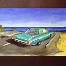 Watercolor Classic Car series