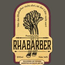 Rhubarb Liquor Label