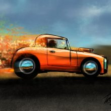 Skittles, the Hot Rod – iPad Painting