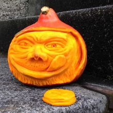 Sweet Toothed Grinch Pumpkin